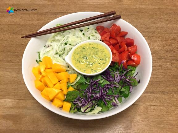 Mango hemp cilantro dressing